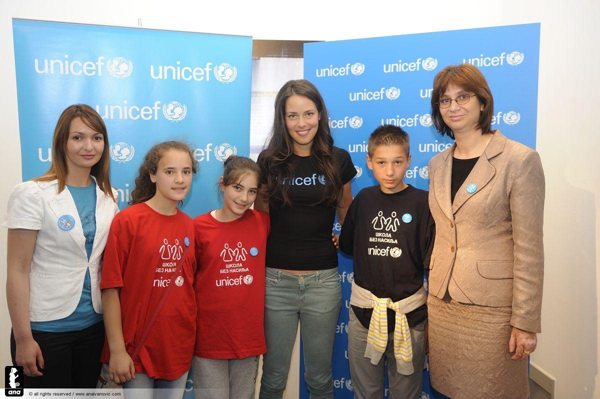 Ana Ivanović UNICEF