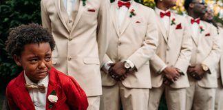 Petogodišnjak zaplakao od sreće na venčanju svojih roditelja